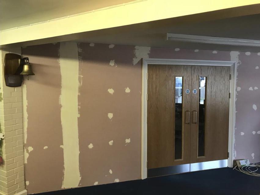 Fire Doors installed during school refurbishment